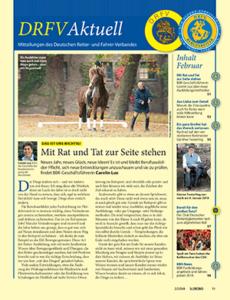 """Das Verbandsorgan des DRFV und seiner Fachgruppen ist das Pferdemagazin """"ST. GEORG""""."""